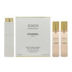 Apa De Toaleta Chanel Coco Mademoiselle, Femei, 3x20ml