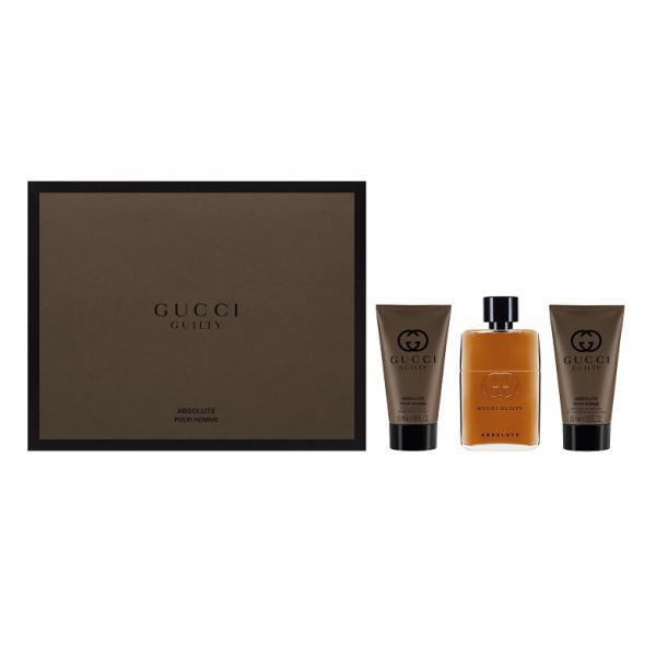 Set Apa De Parfum Gucci Guilty Absolute, Barbati, 50ml