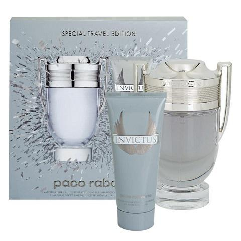 Set Apa De Toaleta Paco Rabanne Invictus, Barbati, 100ml