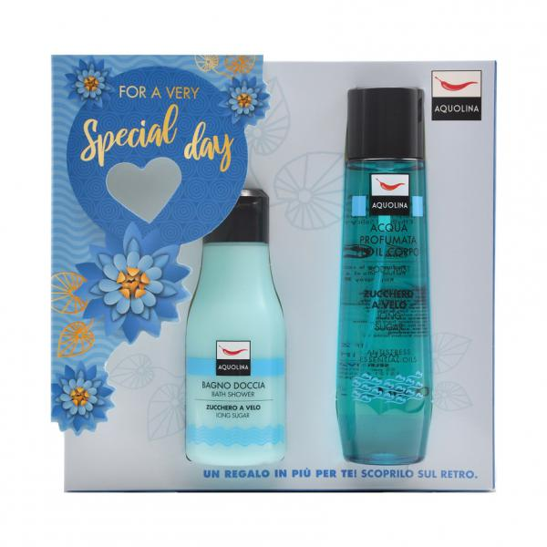 Set Gel de dus Aquolina Icing Sugar, Femei, 125 ml + Deodorant spray 150ml