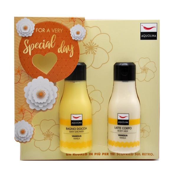 Set Lotiune de corp Aquolina Vanilla , Femei, 125 ml + Gel de dus 125ml