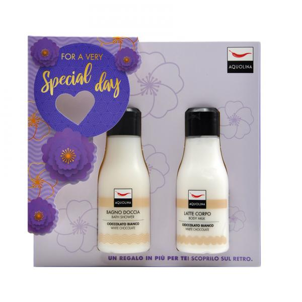 Set Lotiune de corp Aquolina White Chocolate, Femei, 125 ml + Gel de dus 125ml