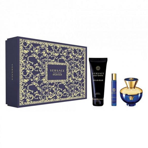 Set Apa De Parfum Versace Dylan Blue, Femei, 100ml