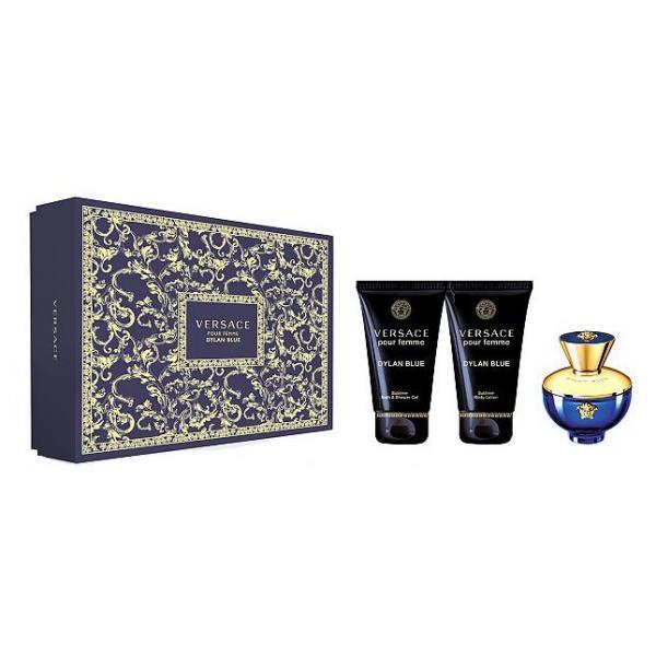 Set Apa De Parfum Versace Dylan Blue, Femei, 50ml